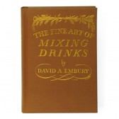 The Fine Art of Mixing Drinks – in Leder gebundene Ausgabe
